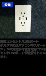電源コンセント/USBポート